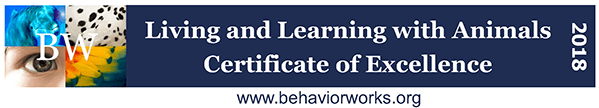 Behavior Works: Living and Learning with Animals Certificate of Excellence badge